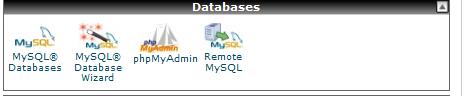 database - cpanel